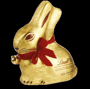 Il cioccolato e la Svizzera - coniglietti dorati