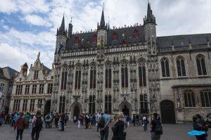 Il Stadhuis presso il Burg di Bruges