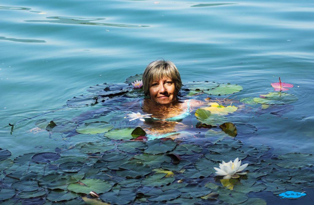 Un bagno nel lago di Bled