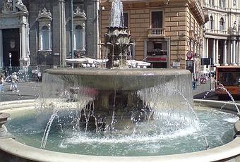 Napoli in 2 giorni: fontana del carciofo
