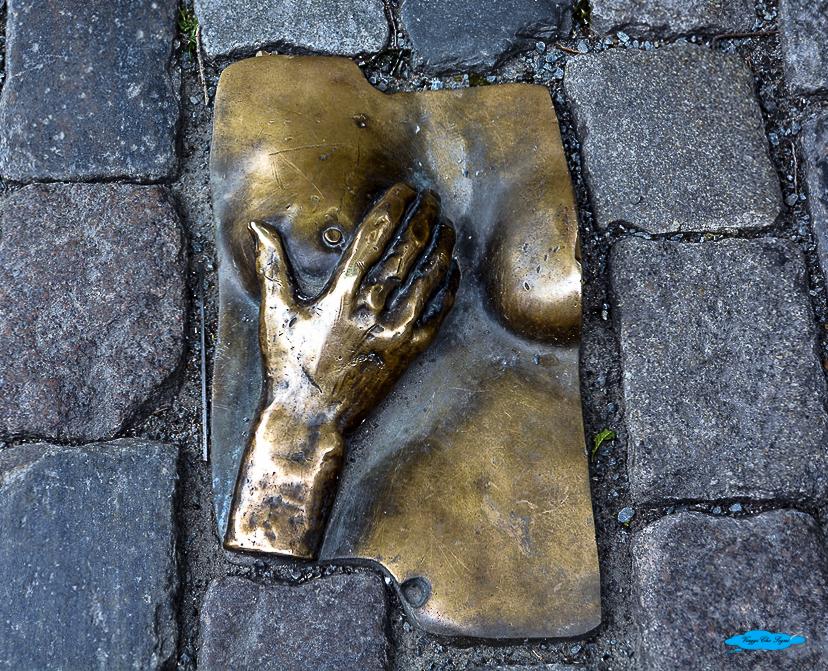 Il rettangolo bronzeo della maninia ad Amsterdam