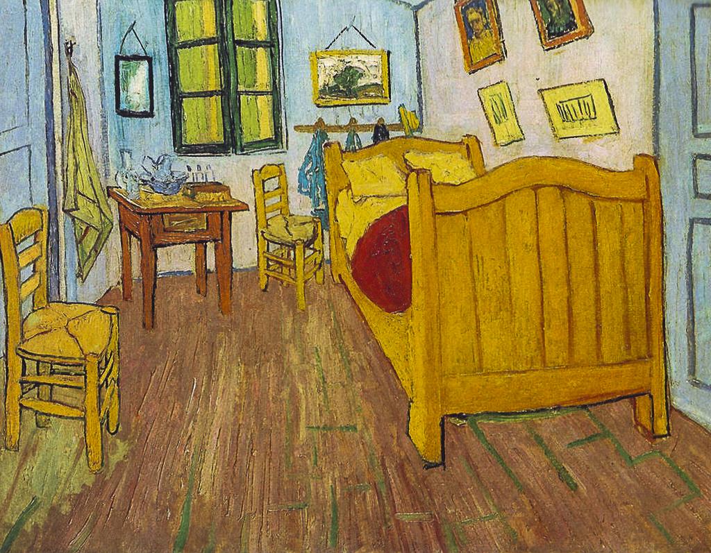 Van Gogh ad Arles: la camera con il letto