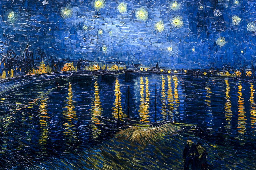 Van Gogh ad Arles: notte stellata sul rodano