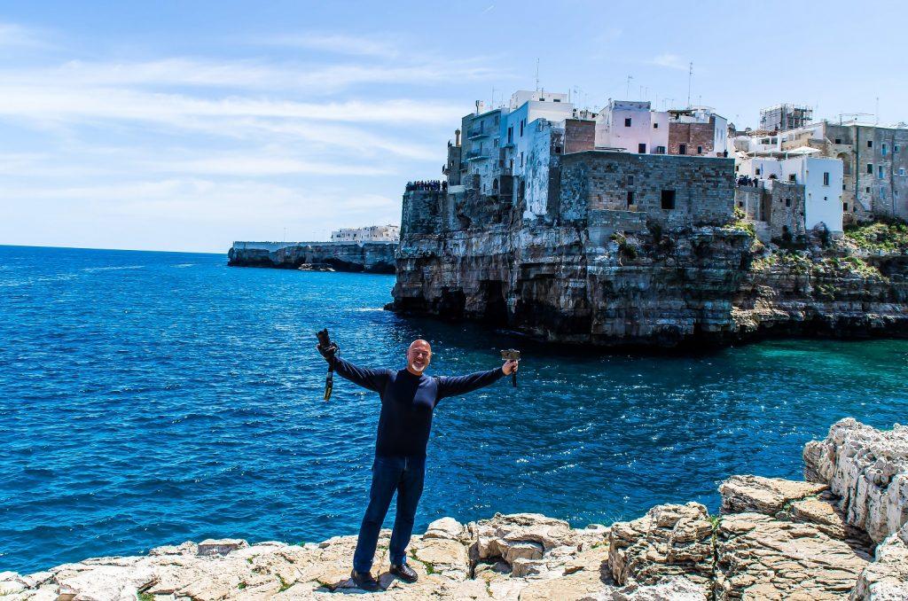 Due giorni a Polignano a mare: Vista su Lama Monachile
