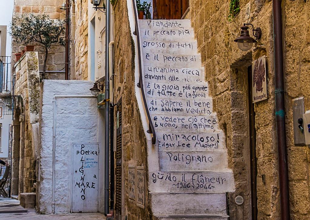 Due giorni a Polignano a mare: scalinata e poesia