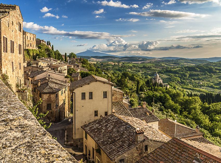 città del vino: veduta di Montepulciano
