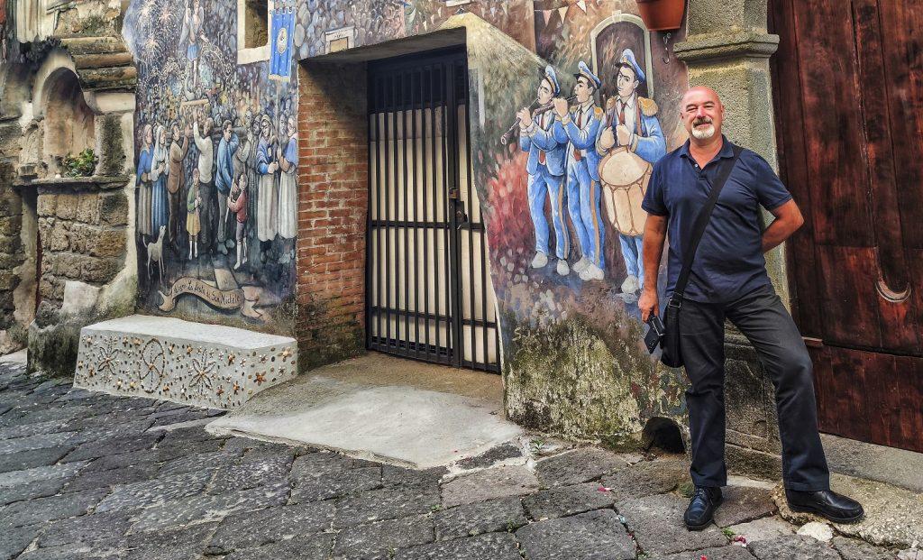 Murales di Valogno: Festa di San Michele