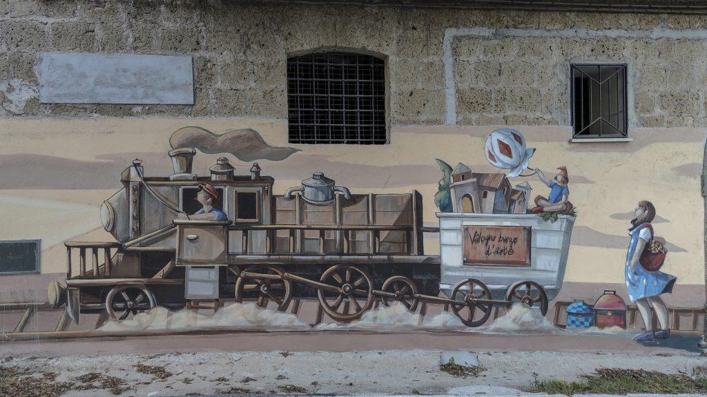 Murales di Valogno: murales del treno