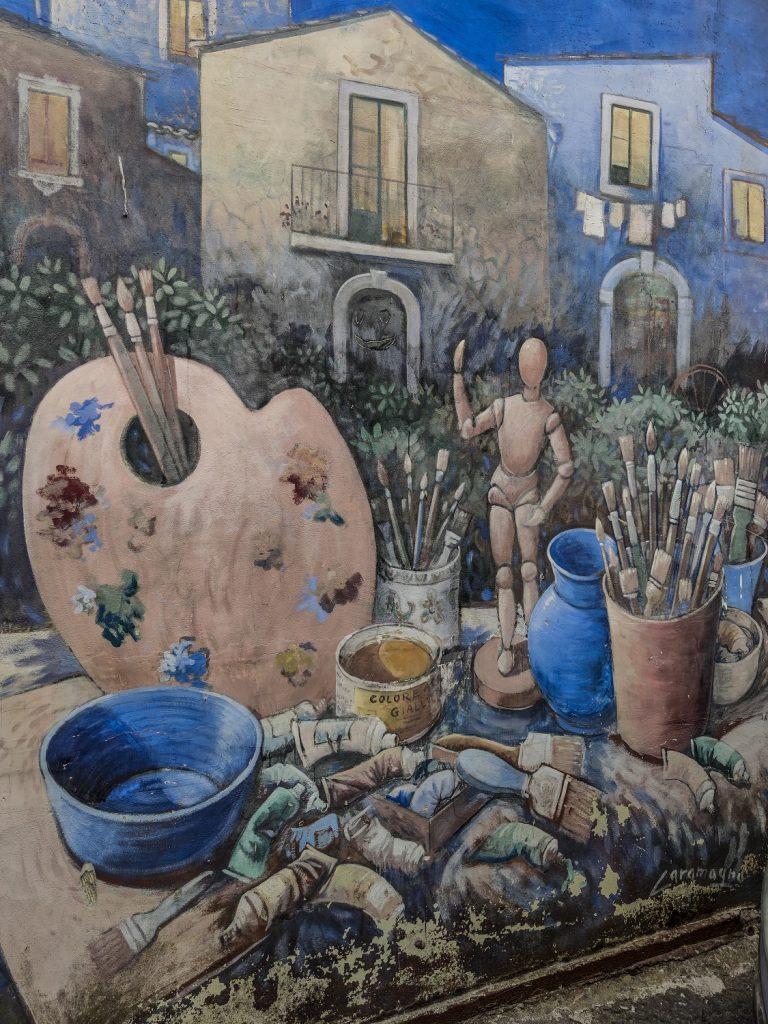 Murales di Valogno: studio dell'artista