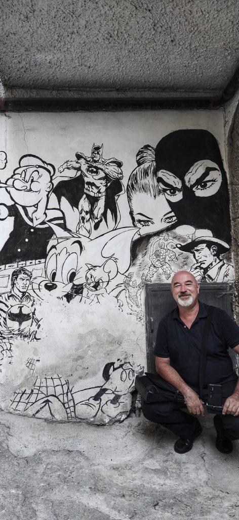 Murales di Valogno: Diabolik ed Eva Kant