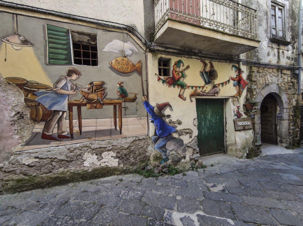 Murales di Valogno: la bottega di Mastu Felice