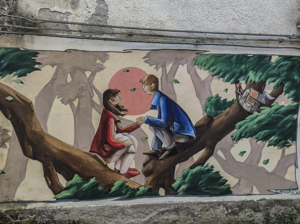 Murales di Valogno: gli innamorati