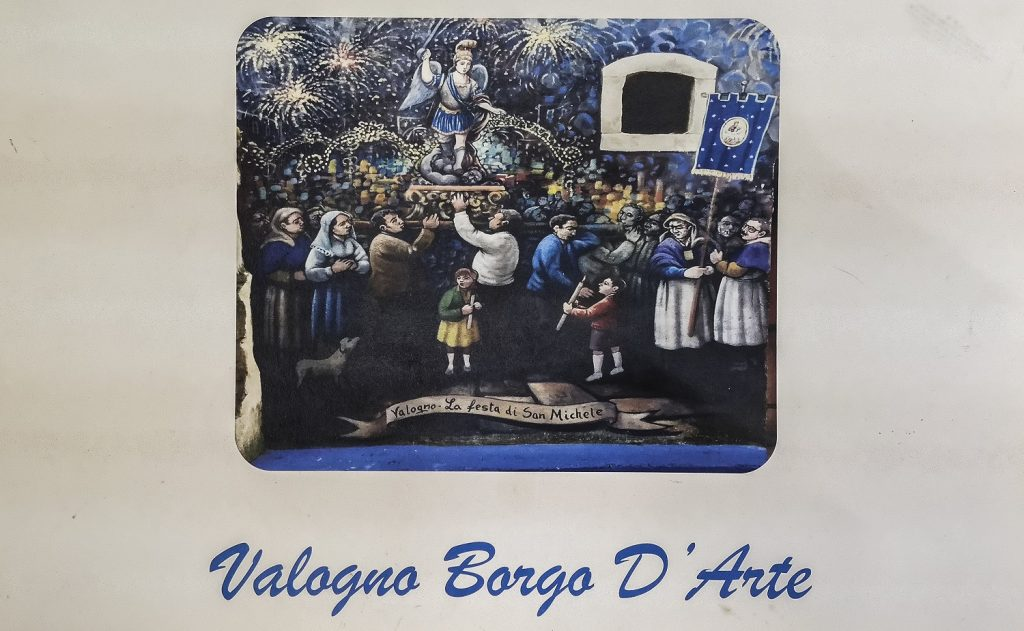 Murales di Valogno: poster della festa di San Michele