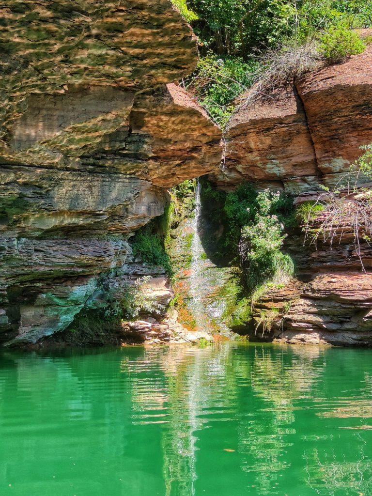 Cascatelle sul percorso per i Canyon del lago di Santa Giustina