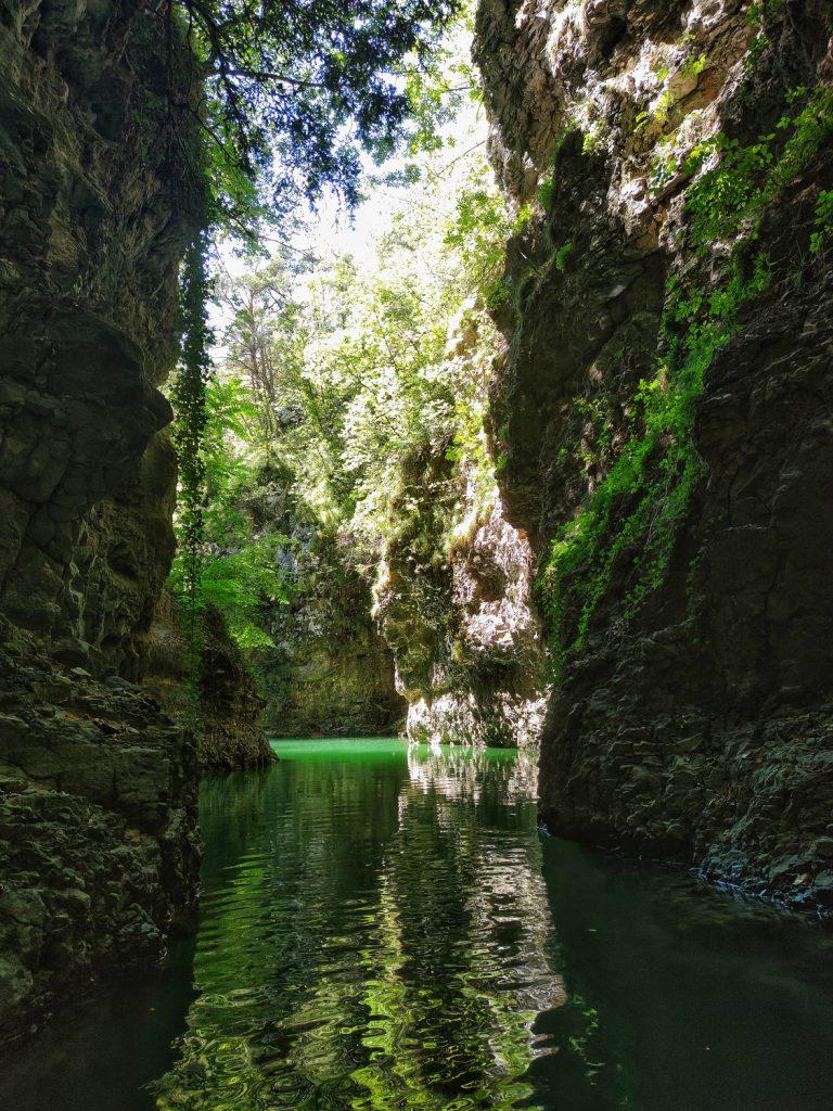 Inizio del Canyon del lago di Santa Giustina