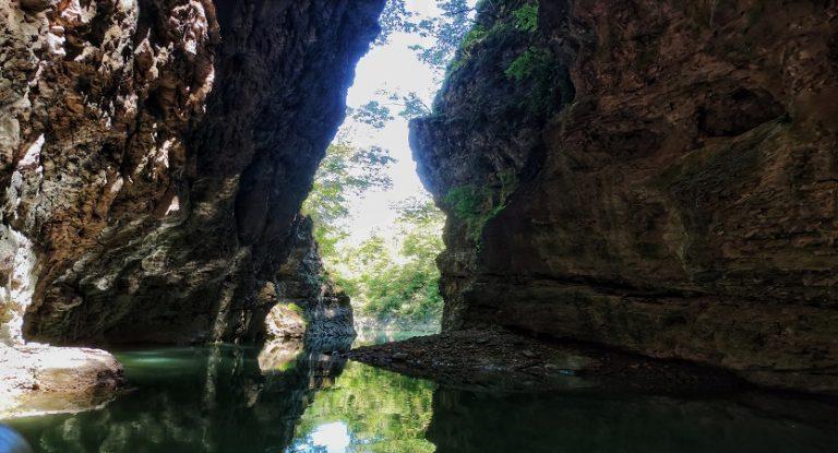 Canyon del lago di Santa Giustina