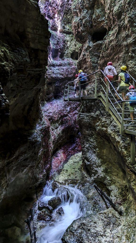 trekking al canyon del rio sass: distanze
