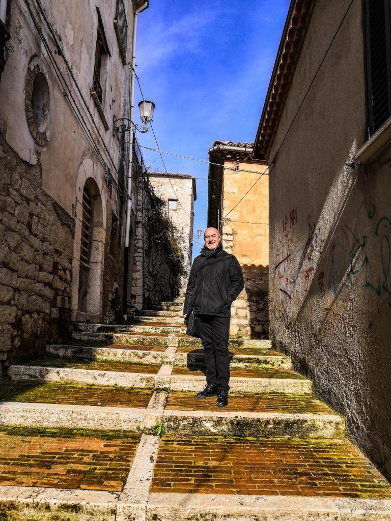 Altra scalinata a Morcone nei due giorni nel Beneventano